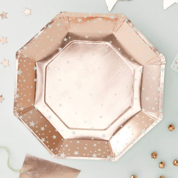 MS-173_Rose_Gold_Star_Paper_Plate[1]