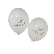 BH-717 Balloons – Just Married- Cut Out