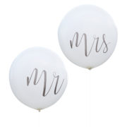 CW-218 Giant Mr & Mrs Balloons Cut Out
