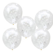CW-260 White Confetti Balloons-Cut Out