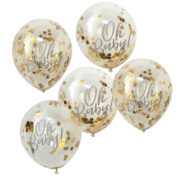 OB-108 Gold Confetti Oh Baby Balloon – Cut Out