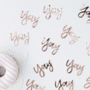 PM-331 Rose Gold Yay Table Confetti