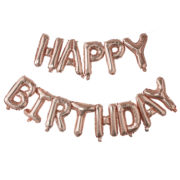 PM-333 Happy Birthday Rose Gold Balloon Bunting – Cut Out