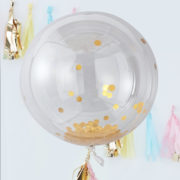 PM-388 Giant Gold Confetti Orb Balloon V2