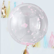 PM-389 Giant Pink Confetti Orb Balloon V2