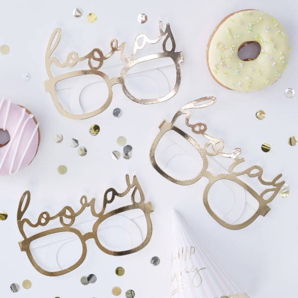 PM-417 Hooray Gold Fun Glasses