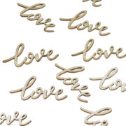 BH-732 Wooden Confetti – Love -Cut Out