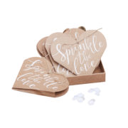CW-257 Sprinkle The Love Heart Confetti Cones – Cut Out