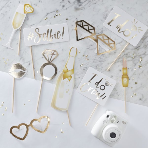 ID-415 Gold Photo Booth Props