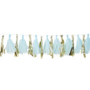 OB-118 Blue and Gold Tassel Garland – Cut Out