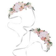 BH-755 Floral Tiara -Cut Out