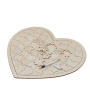 BH-756 Wooden Heart Jigsaw Guestbook -Cut Out